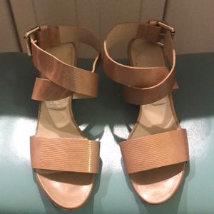 Neutral Wedge Sandal by AGL (Italy) 38.5